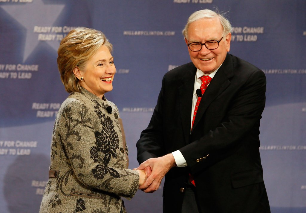 Hillary+Clinton+Warren+Buffett+